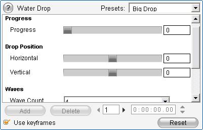 Pinnacle Studio image001 Endre effektparametere