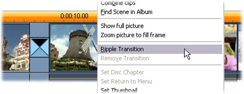 Pinnacle Studio image002 Ripple overganger kommandoen