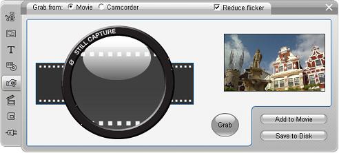 Pinnacle Studio image002 Frame grabber verktøyet