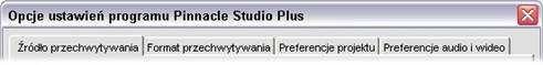 Pinnacle Studio image001 Ustawianie opcji