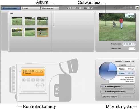 Pinnacle Studio image001 Interfejs Trybu przechwytywania