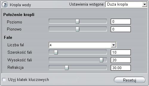 Pinnacle Studio image001 Zmienianie parametrów efektów