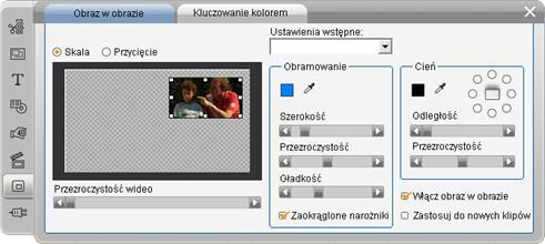 Pinnacle Studio image003 Narzędzie Obraz w obrazie