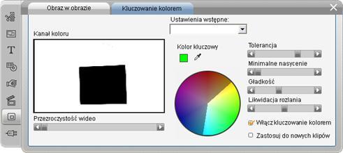 Pinnacle Studio image003 Narzędzie Kluczowanie kolorem