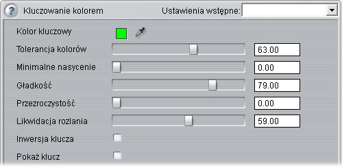 Pinnacle Studio image006 Narzędzie Kluczowanie kolorem