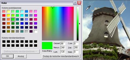 Pinnacle Studio image002 Wybieranie kolorów