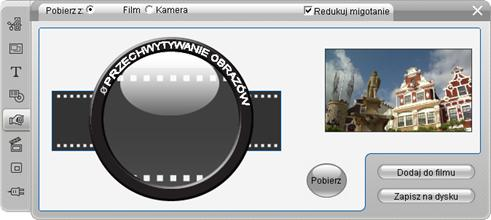 Pinnacle Studio image002 Narzędzie pobierania klatek
