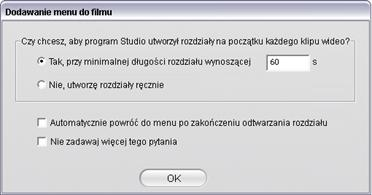 Pinnacle Studio image002 Używanie menu z albumu