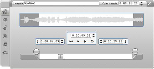 Pinnacle Studio image002 Przycinanie za pomocą narzędzia Właściwości klipu