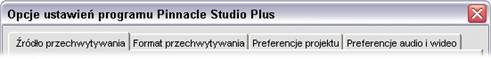 Pinnacle Studio image001 Opcje ustawień