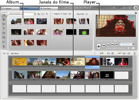 Pinnacle Studio image001 Modo Editar