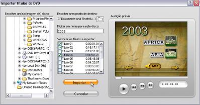 Pinnacle Studio image001 Importação de vídeo de DVD