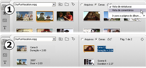 Pinnacle Studio image005 A seção Cenas de vídeo