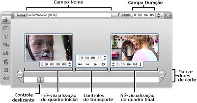 Pinnacle Studio image002 Corte com a ferramenta Propriedades do clipe