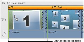 Pinnacle Studio image001 Criação de clipes de temas