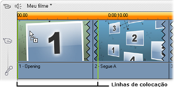 Pinnacle Studio image002 Criação de clipes de temas