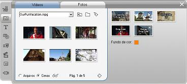 Pinnacle Studio image001 Utilização da ferramenta Editor de temas