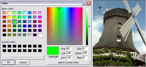 Pinnacle Studio image002 Seleção das cores