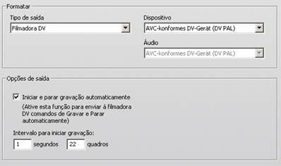 Pinnacle Studio image001 Configurações em Criar fita