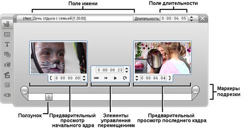 Pinnacle Studio image002 Подрезка с помощью инструмента Свойства клипа