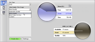 Pinnacle Studio image001 Вывод на дисковый носитель