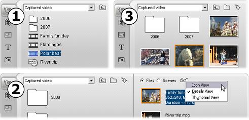 Pinnacle Studio image004 Sektionen för Videoscener