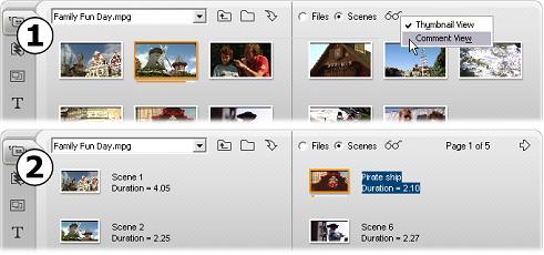 Pinnacle Studio image005 Sektionen för Videoscener