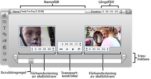 Pinnacle Studio image002 Trimma videosekvenser med verktyget Klippegenskaper