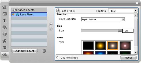 Pinnacle Studio image002 Video effects