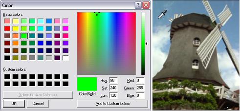 Pinnacle Studio image002 Att välja färger