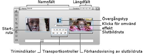 Pinnacle Studio image003 Trimning med Klippegenskaper verktyget