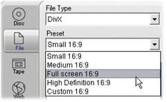 Pinnacle Studio image006 Överföring till fil