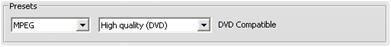 Pinnacle Studio image001 Konfigurationer för importformat (Capture format)