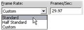 Pinnacle Studio image004 Konfigurationer för Skapa fil