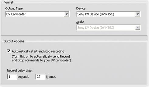 Pinnacle Studio image001 Konfigurationer för Skapa kassett