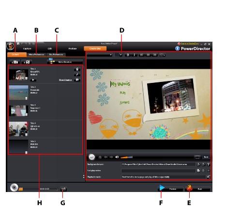 PowerDirector createa2 Creating Discs