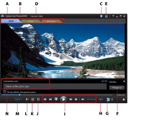 PowerDVD  ui7 Utilisation de PowerDVD