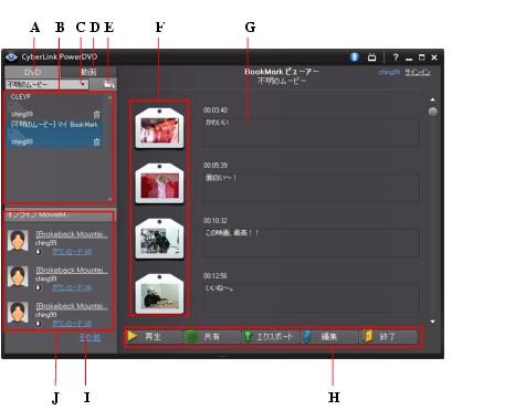 PowerDVD bookma51 BookMark の機能