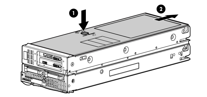 HP ProLiant WS460c G6 115203 Removing the WS460c Graphics Expansion Blade access panel