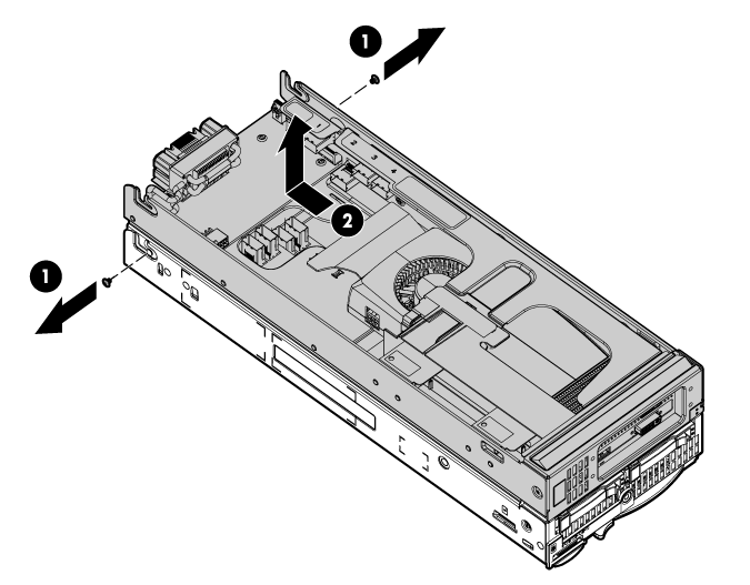 HP ProLiant WS460c G6 115711 Removing the WS460c Graphics Expansion Blade