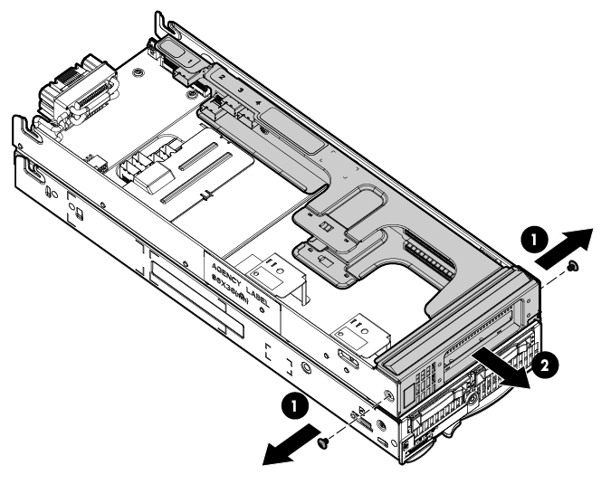HP ProLiant WS460c G6 123339 Configuring the WS460c Graphics Expansion Blade configuration with HBA