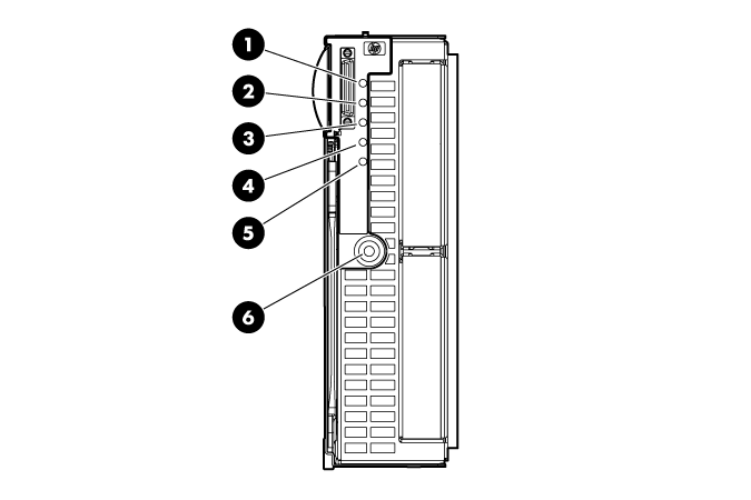 HP ProLiant WS460c G6 96813 Front panel LEDs