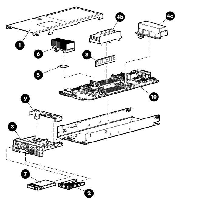 HP ProLiant WS460c G6 97499 Workstation blade components