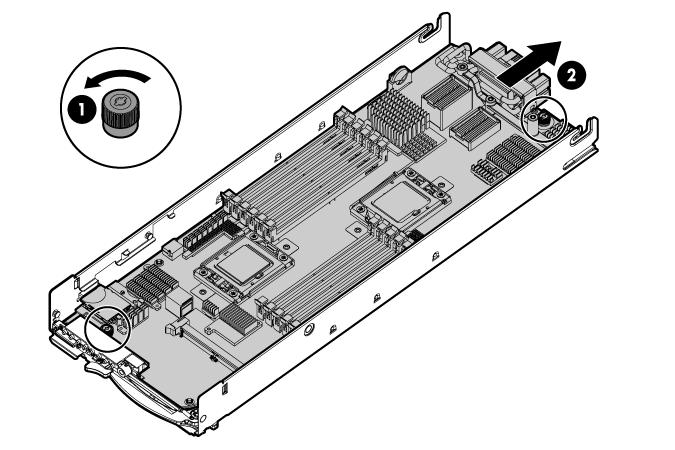 HP ProLiant WS460c G6 97525 System board