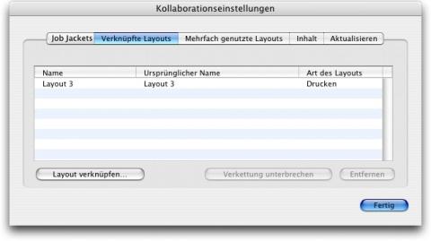 QuarkXpress db collaboration setup linked layouts Verknüpfung mit einem Composition Layout in einem anderen Projekt