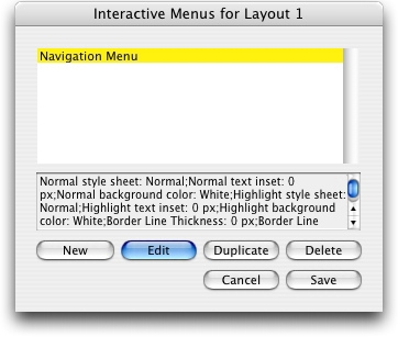 QuarkXpress db interactive menus for Creating an Interactive Menu