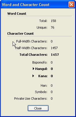QuarkXpress db word and character count Counting words and characters