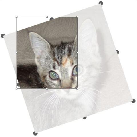 QuarkXpress example Picture rotate Understanding handles