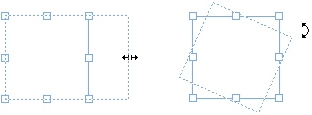 QuarkXpress example resize rotate box Understanding handles