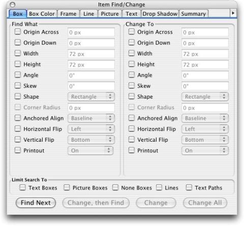 QuarkXpress pal item findchange Item Find/Change XTensions software